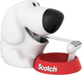 Scotch Tischabroller Dog weiß