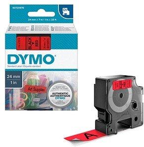 DYMO Beschriftungsband D1 schwarz auf rot 24 mm