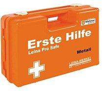 LEINA-WERKE Erste-Hilfe-Kasten Pro Safe Metall DIN 13157 + branchenbezogene Zusatzerweiterung orange