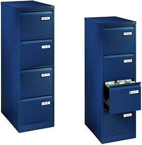 BISLEY LIGHT   Hängeregistraturschrank blau/blau 4 Schubladen