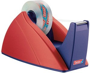 tesa Tischabroller Easy Cut® rot/blau