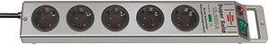 brennenstuhl Super-Solid 5-fach Steckdosenleiste mit Überspannungsschutz silber