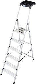 KRAUSE Stehleiter MONTO Secury mit Multi-Grip 6 Stufen