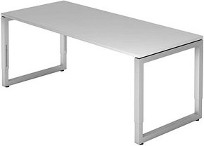 HAMMERBACHER RS19 höhenverstellbarer Schreibtisch grau rechteckig