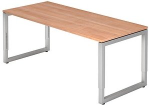 HAMMERBACHER RS19 höhenverstellbarer Schreibtisch nussbaum rechteckig