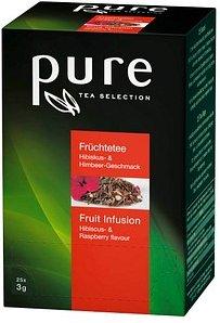 pure Früchtetee Hibiskus und Himbeere Tee 25 Teebeutel à 3,0 g