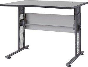 GERMANIA   Profi höhenverstellbarer Schreibtisch grau rechteckig
