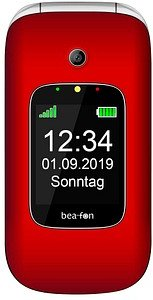 bea-fon SL590 Großtasten-Handy rot-silber