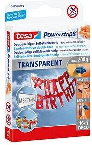 tesa Klebestreifen Powerstrips TRANSPARENT