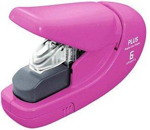 PLUS JAPAN Klammerloses Heftgerät   pink