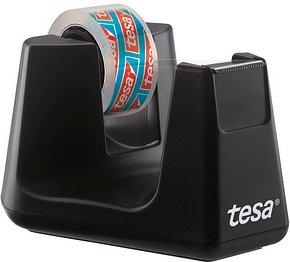 tesa Tischabroller Easy Cut® Smart schwarz inkl. 1 Rolle tesafilm® kristall-klar, 10,0 m x 15,0 mm (LxB)