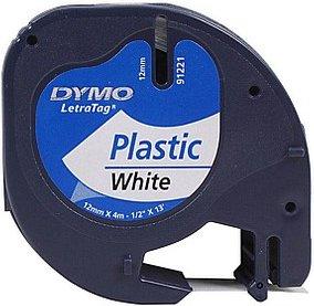 DYMO Beschriftungsband 91221 schwarz auf weiß 12 mm