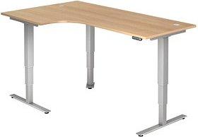HAMMERBACHER   höhenverstellbarer Schreibtisch eiche L-Form