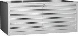 Gürkan   Planschrank grau/grau 6 Schubladen