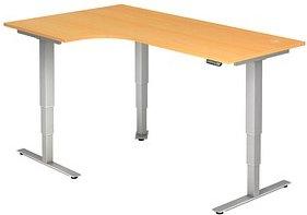 HAMMERBACHER   höhenverstellbarer Schreibtisch buche L-Form