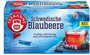 TEEKANNE Schwedische Blaubeere Tee 20 Teebeutel à 2,5 g
