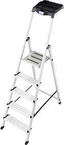 KRAUSE Stehleiter MONTO Secury mit Multi-Grip 5 Stufen