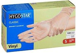 HYGOSTAR unisex Einmalhandschuhe CLASSIC transparent Größe S 100 St.
