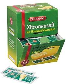 TEEKANNE Zitronensaft 100 x 4,0 ml