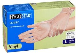 HYGOSTAR unisex Einmalhandschuhe CLASSIC transparent Größe L 100 St.