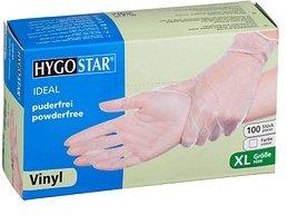 HYGOSTAR unisex Einmalhandschuhe IDEAL transparent Größe XL 100 St.