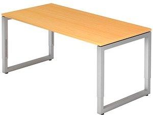 HAMMERBACHER RS16 höhenverstellbarer Schreibtisch buche rechteckig