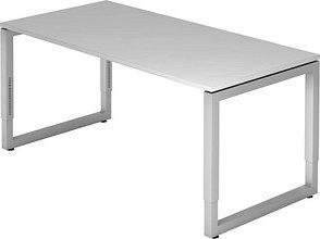 HAMMERBACHER RS16 höhenverstellbarer Schreibtisch grau rechteckig