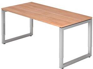 HAMMERBACHER RS16 höhenverstellbarer Schreibtisch nussbaum rechteckig