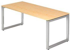 HAMMERBACHER RS19 höhenverstellbarer Schreibtisch ahorn rechteckig
