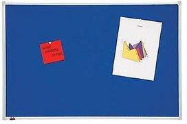 dots Pinnwand 90,0 x 60,0 cm Textil blau