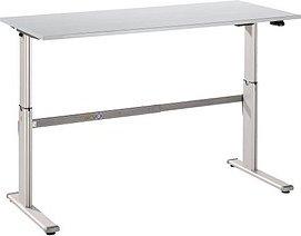 HAMMERBACHER   höhenverstellbarer Schreibtisch grau rechteckig