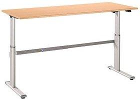 HAMMERBACHER   höhenverstellbarer Schreibtisch buche rechteckig