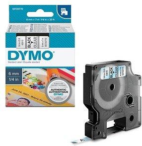 DYMO Beschriftungsband D1 schwarz auf transparent 6 mm