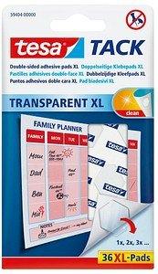 36 tesa TACK TRANSPARENT XL doppelseitige Klebepads
