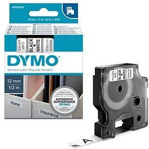 DYMO Beschriftungsband D1 schwarz auf weiß 12 mm