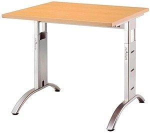 HAMMERBACHER   Savona höhenverstellbarer Schreibtisch buche quadratisch