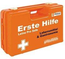LEINA-WERKE Erste-Hilfe-Kasten Pro Safe Lebensmittel & Gastronomie DIN 13157 + branchenbezogene Zusatzerweiterung orange