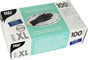 PAPSTAR unisex Einmalhandschuhe schwarz Größe XL 100 St.
