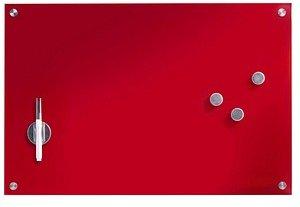 Glas-Magnettafel   60,0 x 40,0 cm rot
