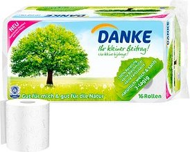 DANKE Toilettenpapier 3-lagig