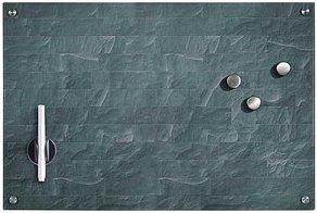 Glas-Magnettafel   60,0 x 40,0 cm Stone anthrazit