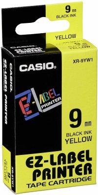 Casio XR-9 YW 9 mm schwarz auf gelb