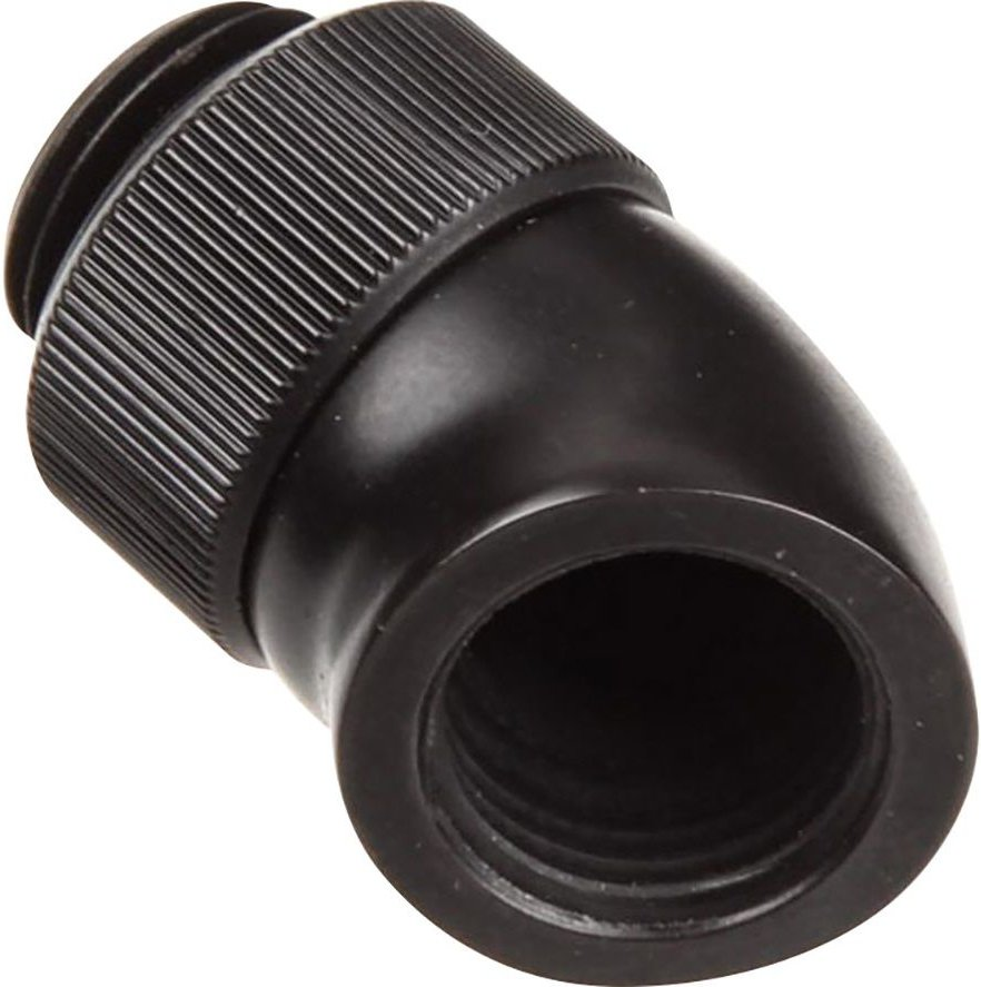 EK AF Angled 45 Degrees Fitting Adapter   Black  Black