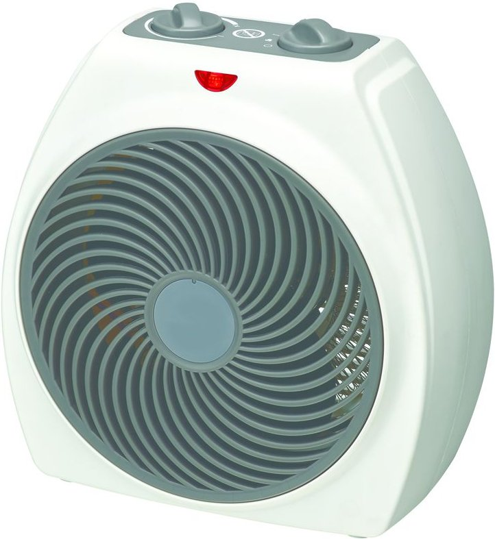 ESSENTIALS C20FHW18 Portable Hot   Cool Fan Heater   White  White