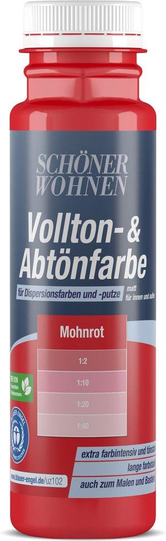 Voll-und Abtönfarbe mohnrot, 250 ml