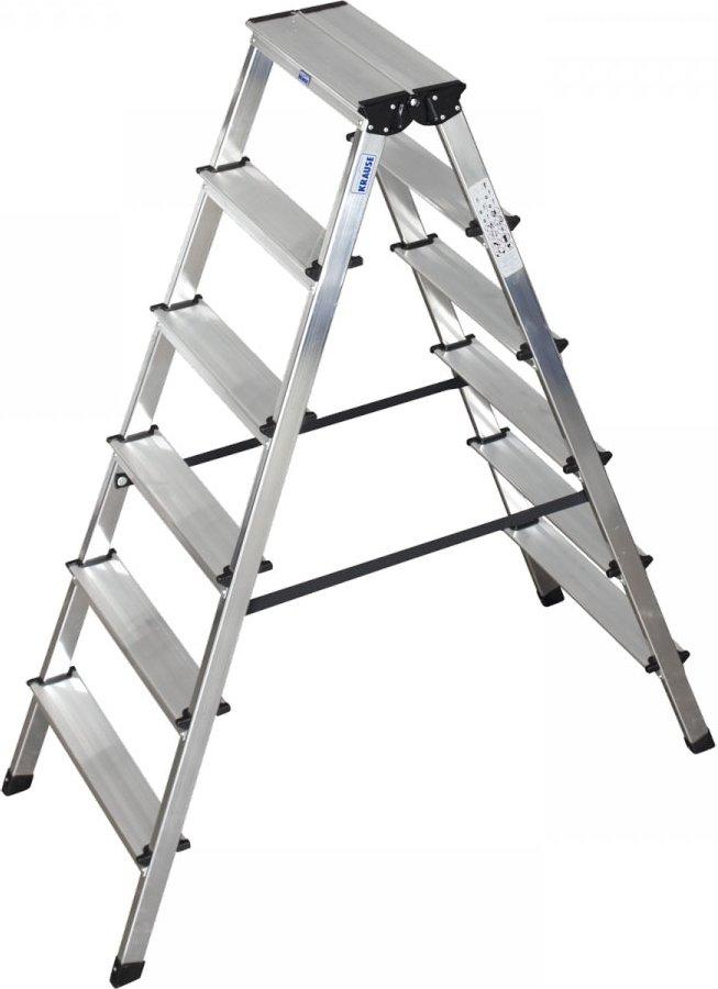 """Stufen-Doppelleiter """"Dopplo"""" 2x6 Stufen"""