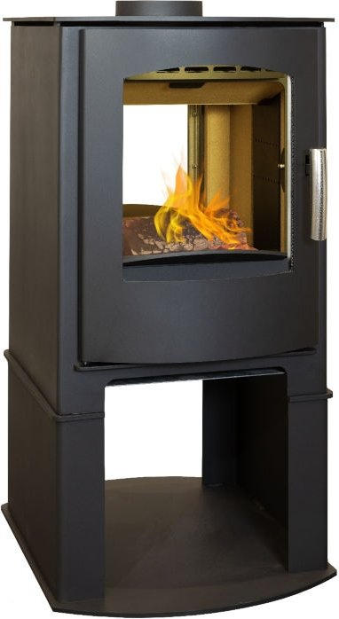 Mendip Churchill 8 Double Sided 8kW Stove with Log Store