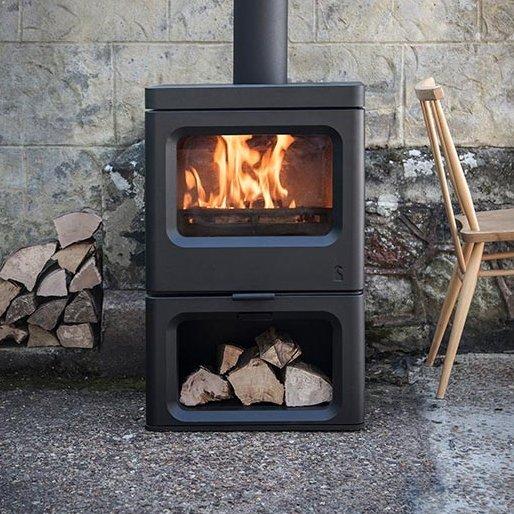 Charnwood Skye 5 Eco Design Ready Stove with Log Store