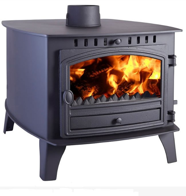 Hunter Herald 14 Double Sided  Double Depth Multifuel Stove
