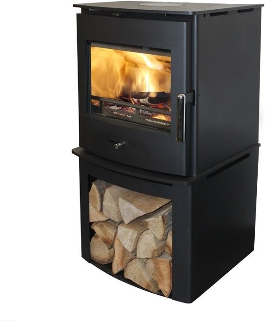 Newbourne 40FS Eco Design Multifuel Stove With 200mm Log Store